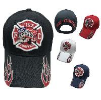 Firefighter/Maltese Cross/Fire Truck Hat [Flames on Bill]